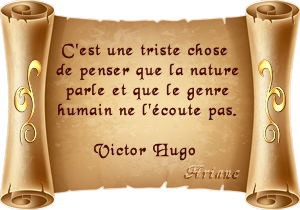 parchemin citation Victor Hugo